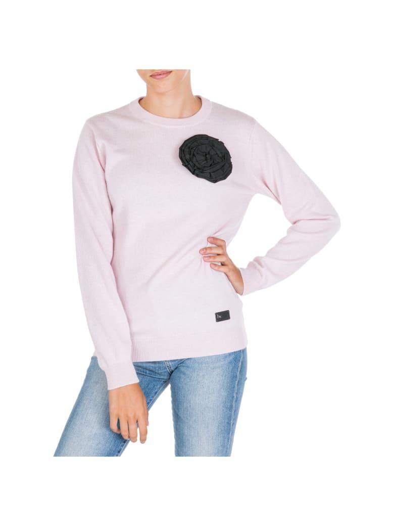 Be Blumarine  Jumper Sweater Crew Neck Round - Rosa