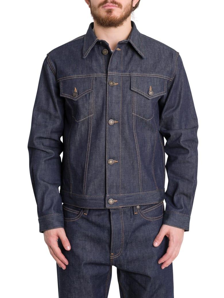 Calvin Klein Trucker Selvedge Denim Jacket - Blu