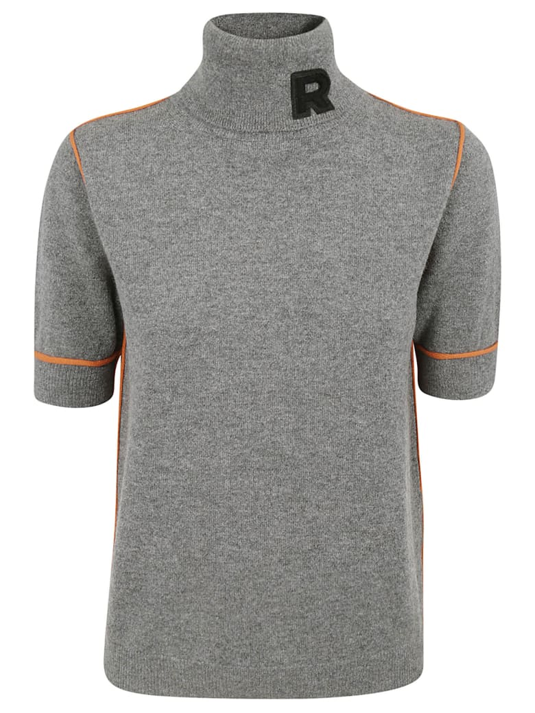 Rochas Roll Neck Logo Sweater - Grey