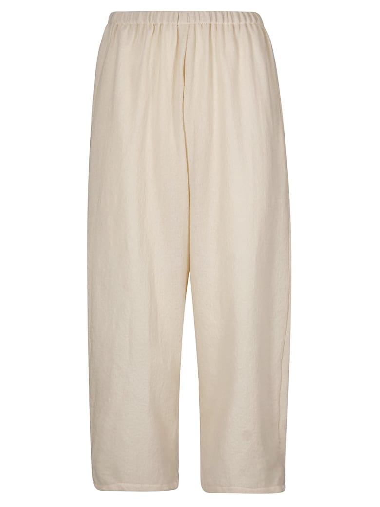 A Punto B A.b Elasticated Cropped Trousers - Butter