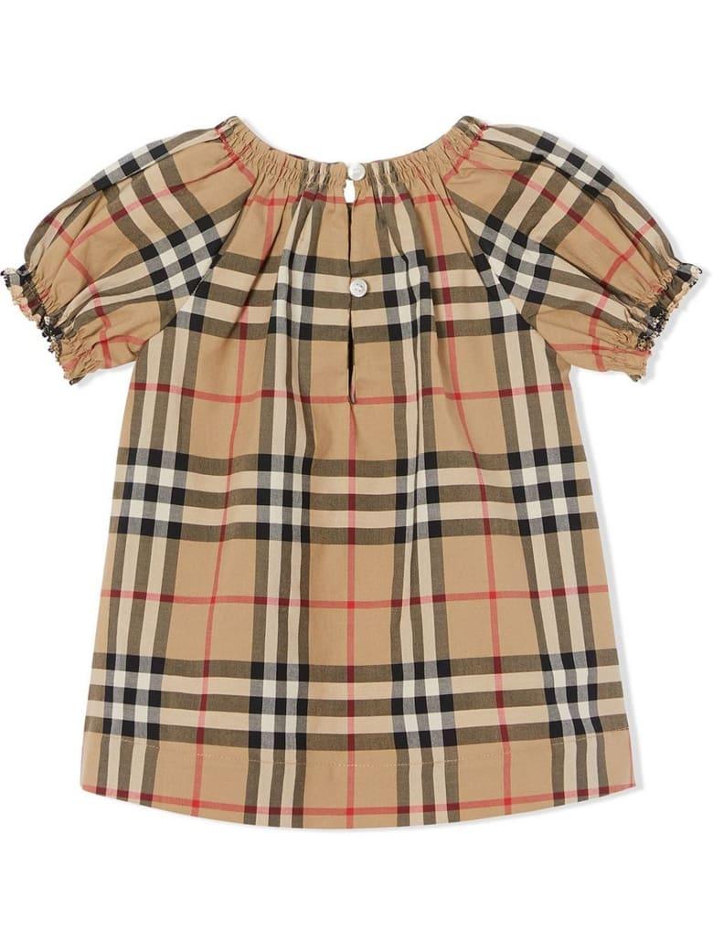 Burberry Beige Cotton Dress - Check