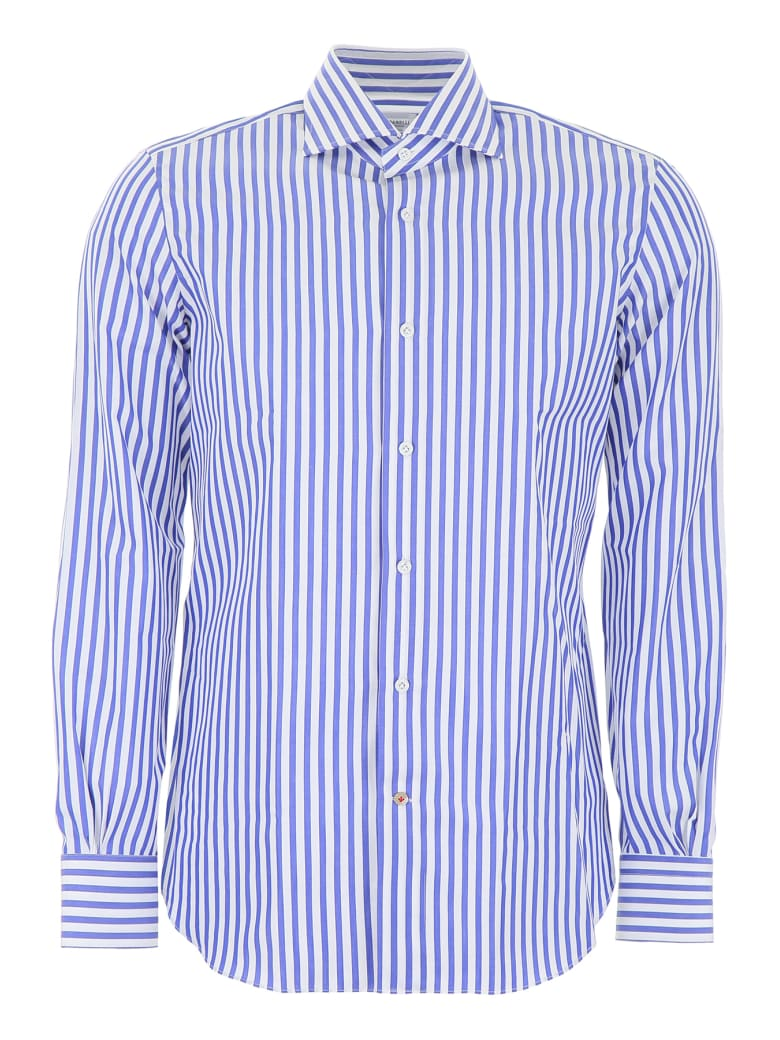 Mazzarelli Striped Shirt - RIGA BLU FDO BIANCO (White)