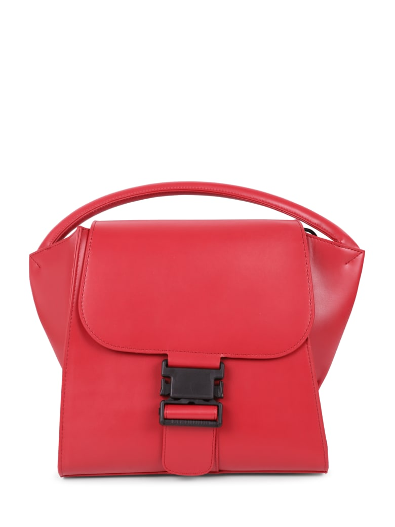 Zucca Red Buckled Bag M - Red
