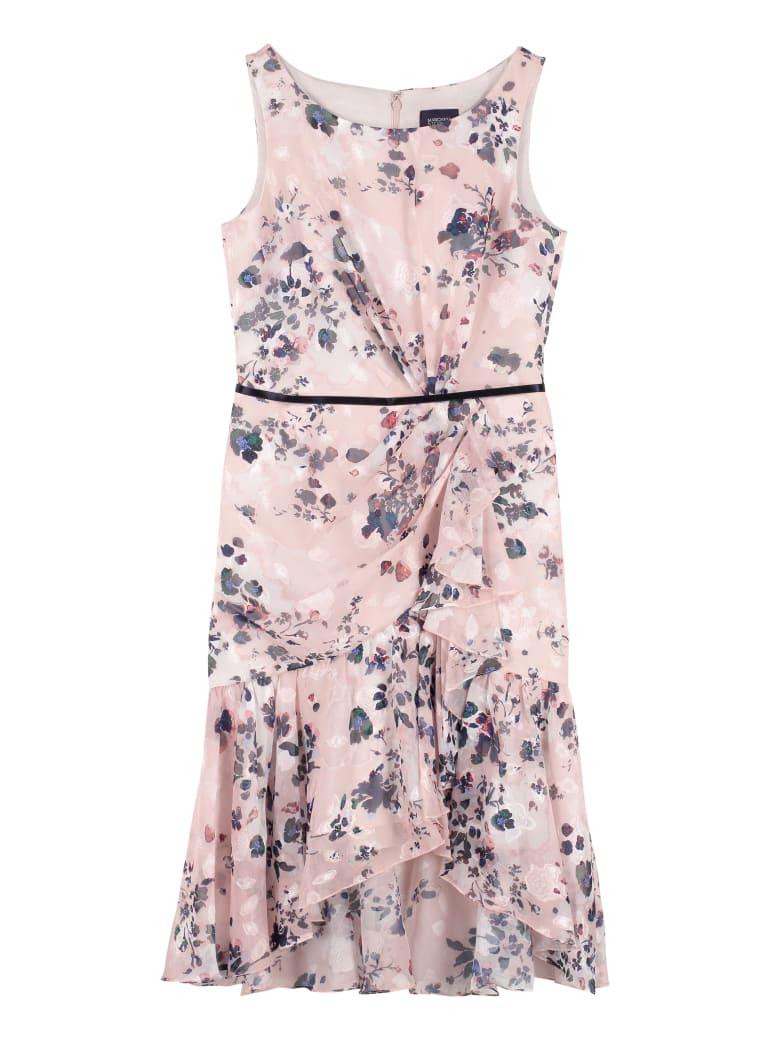Marchesa Notte Floral Print Dress - Pink