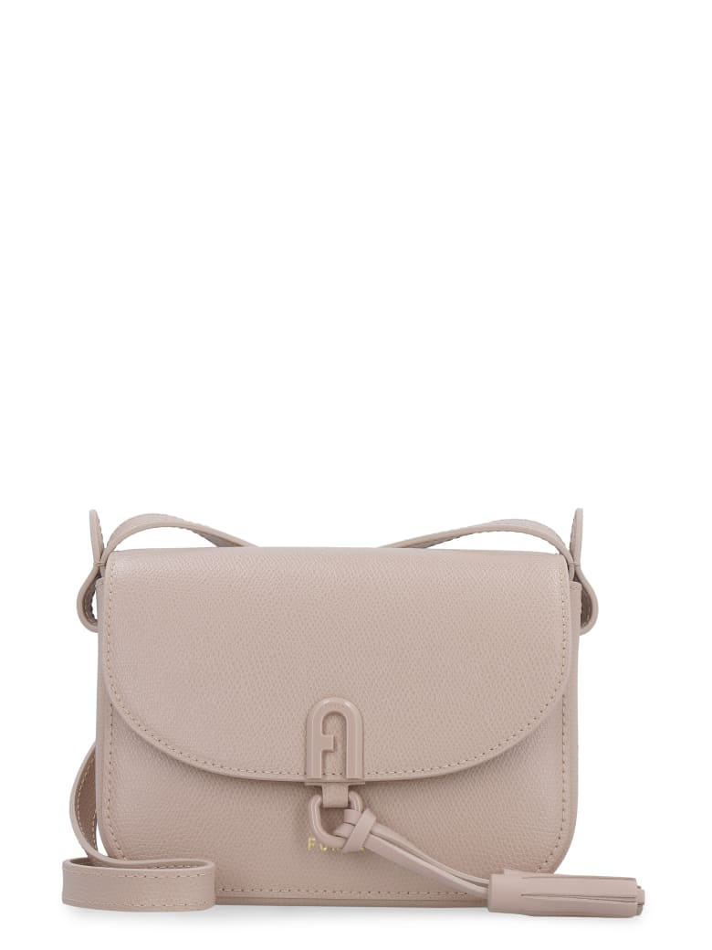 Furla Furla 1927 Leather Mini Crossbody Bag - Beige