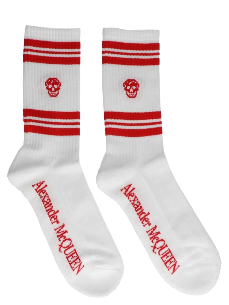 Alexander McQueen 'skull' Socks - White