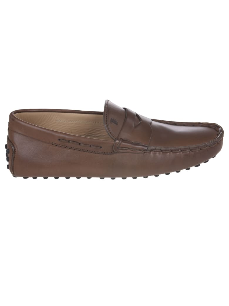 Tod's Logo Stamped Loafers - Brown