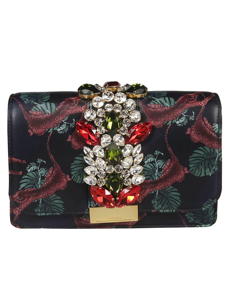 Gedebe Crystal Embellished Shoulder Bag - Multicolor