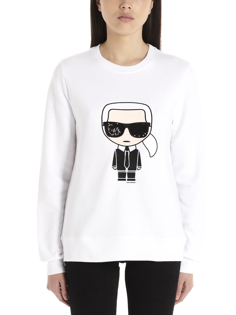 Karl Lagerfeld 'ikonic Karl' Sweatshirt - White