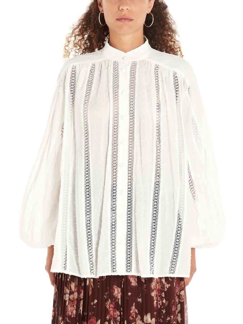 Zimmermann 'suraya Lace' Shirt - White