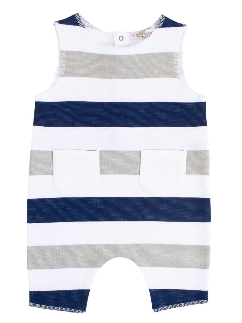 De Cavana Newborn Striped Romper - Blu elettrico