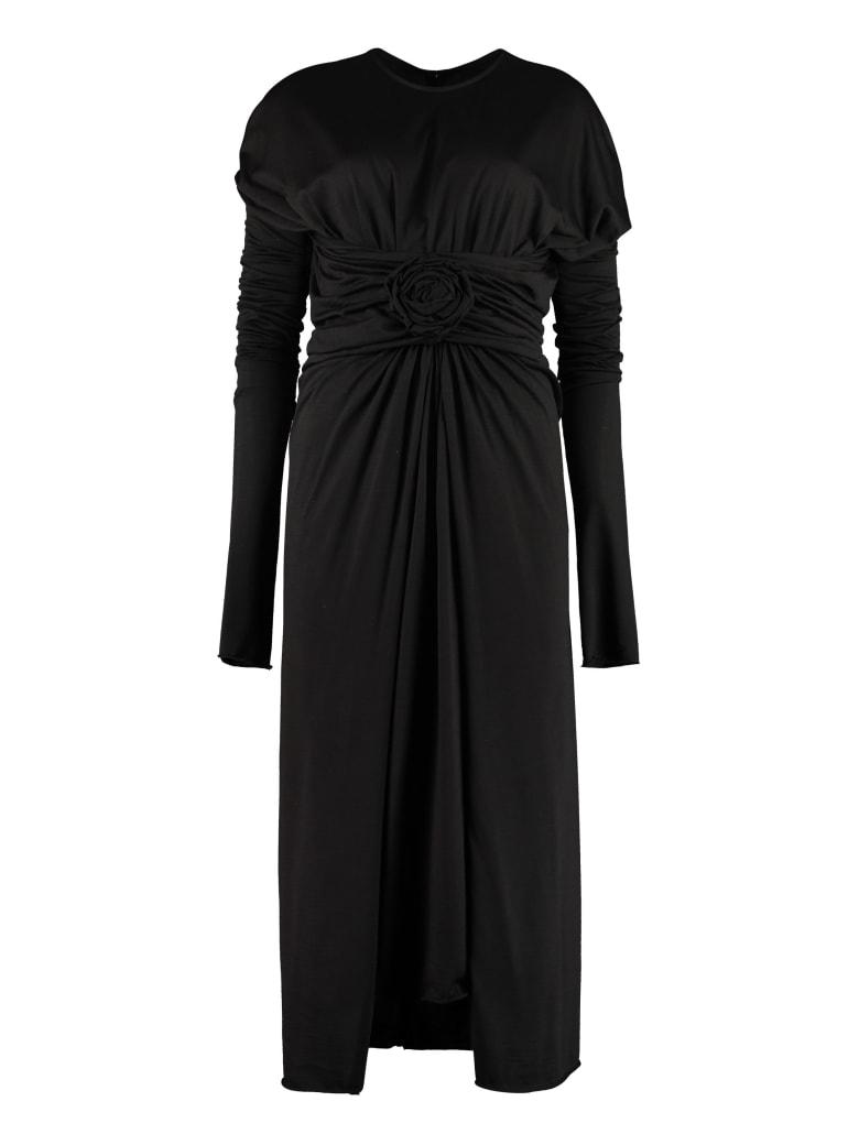 Dolce & Gabbana Draped Jersey Dress - black