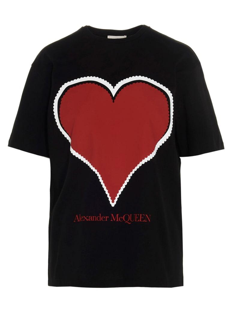Alexander McQueen 'graphic Heart' T-shirt - NERO