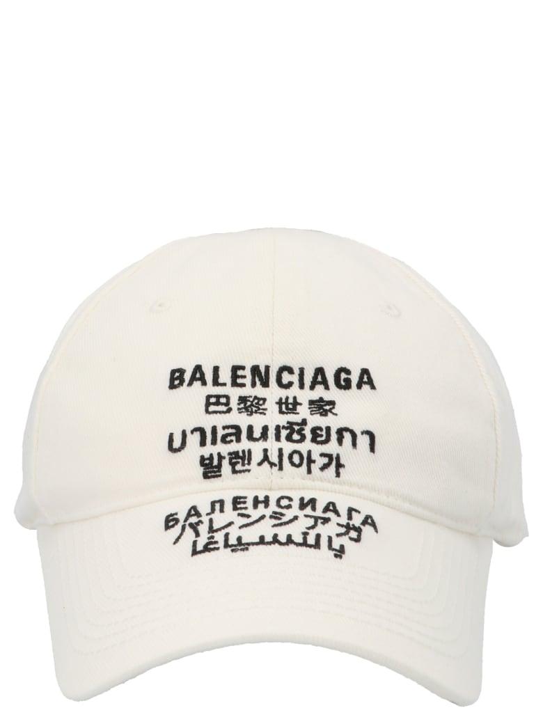 Balenciaga 'multilanguages' Cap - White
