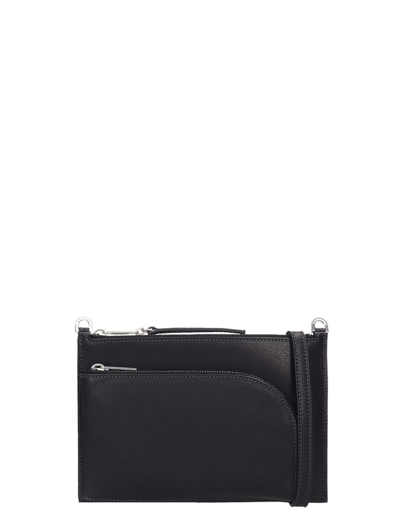 Rick Owens Club Pouch Shoulder Bag In Black Leather - black