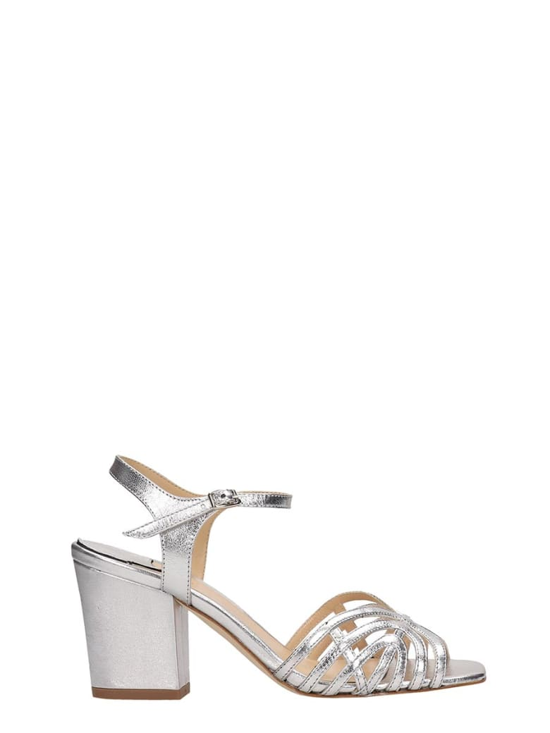 The Seller Silver Leather Sandals - silver