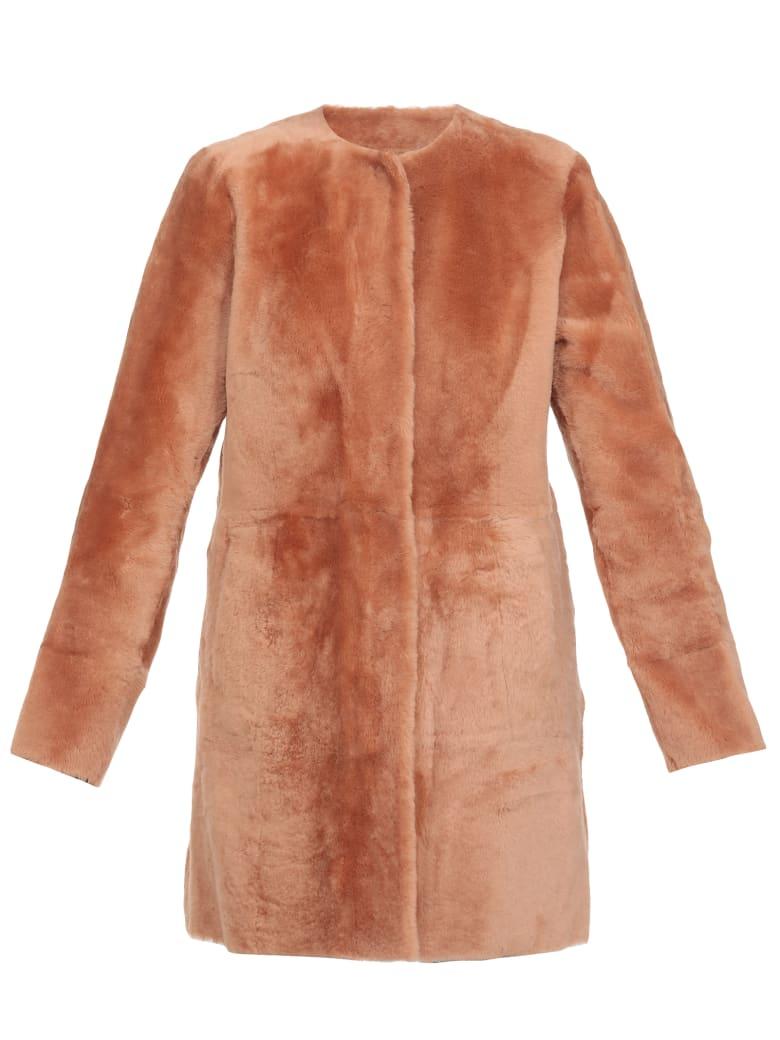 DROMe Reversible Fur Coat - Cipria