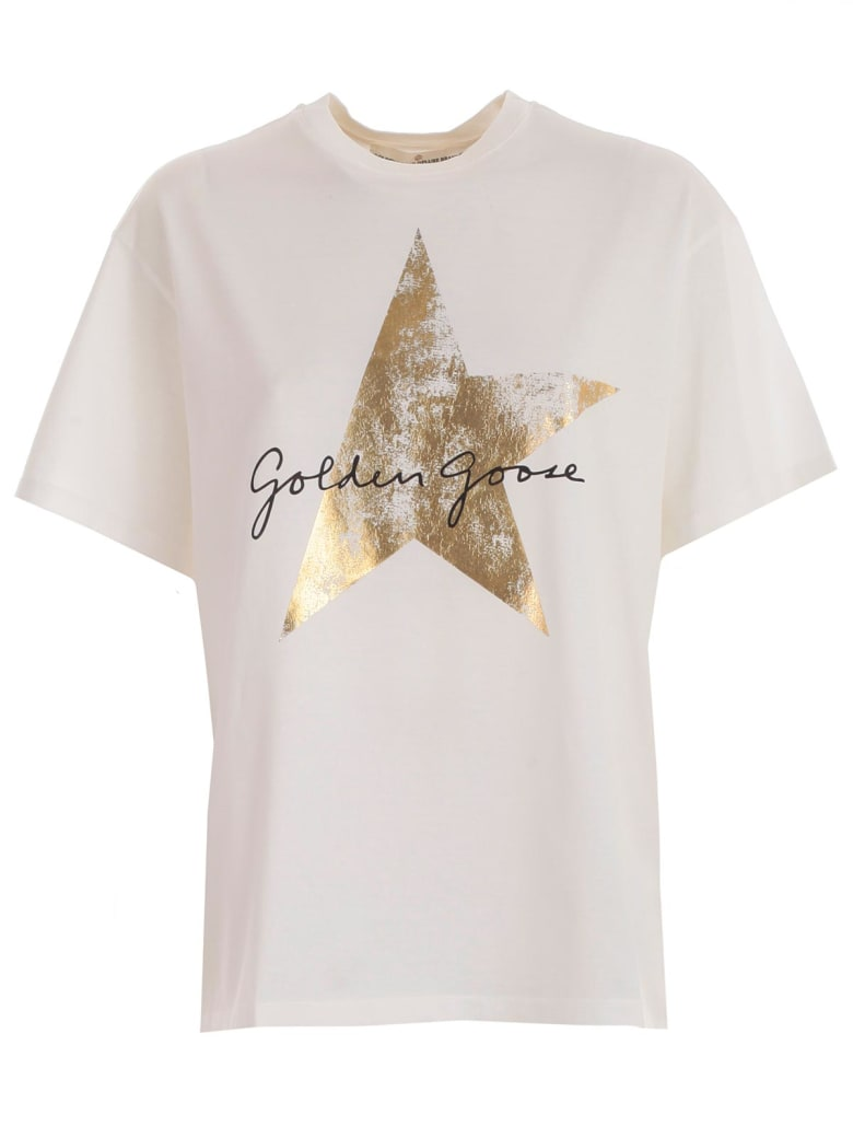 Golden Goose T-shirt S/s - White Golden Star