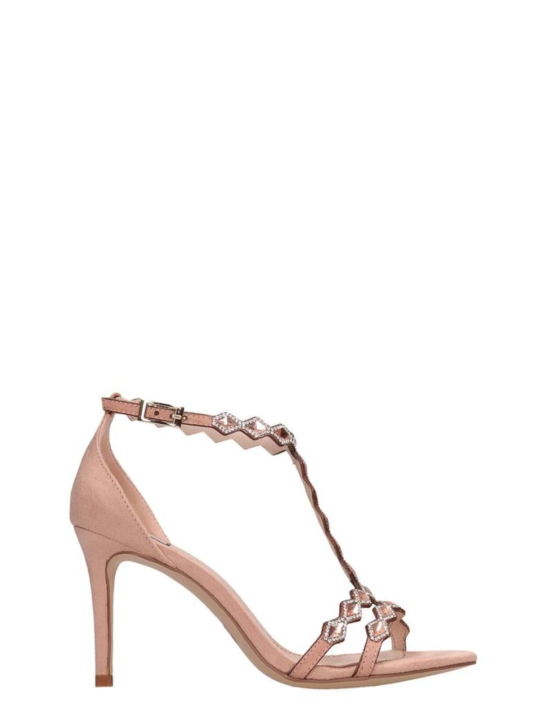 Bibi Lou Pink Suede Sandals - rose-pink