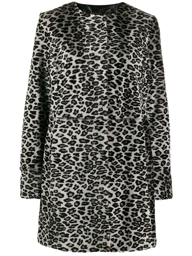 DROMe Leo Coat - Moonshine+black