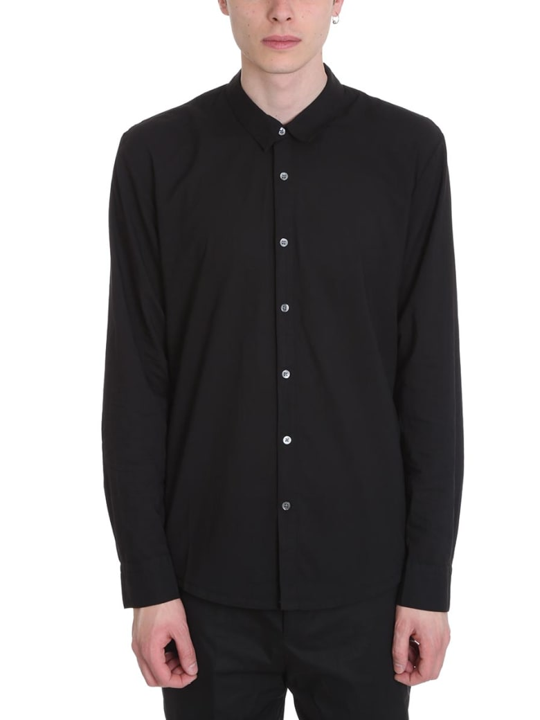 James Perse Standard Black Cotton Shirt - black