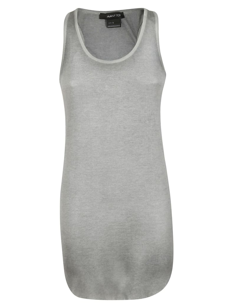 Avant Toi Knitted Tank Top - Grey