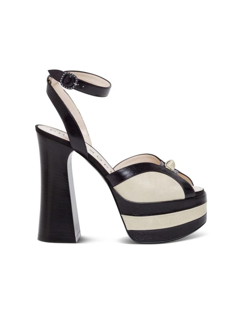 Philosophy di Lorenzo Serafini Bicolor Leather Sandals - Black