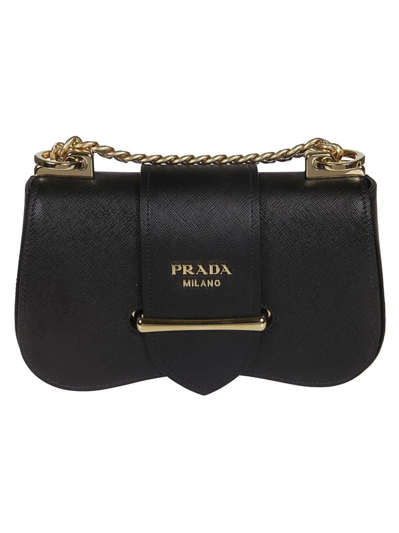 Prada Sidone Shoulder Bag - Black