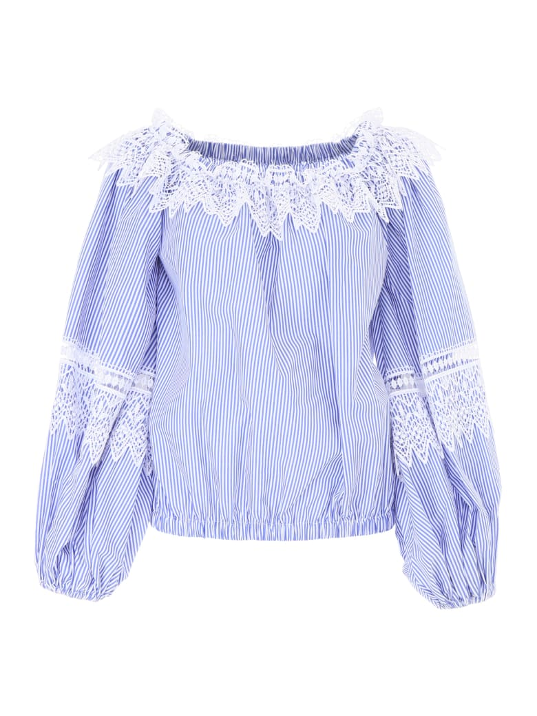 Forte Couture Bianca Shirt - BLUE/WHITE (White)