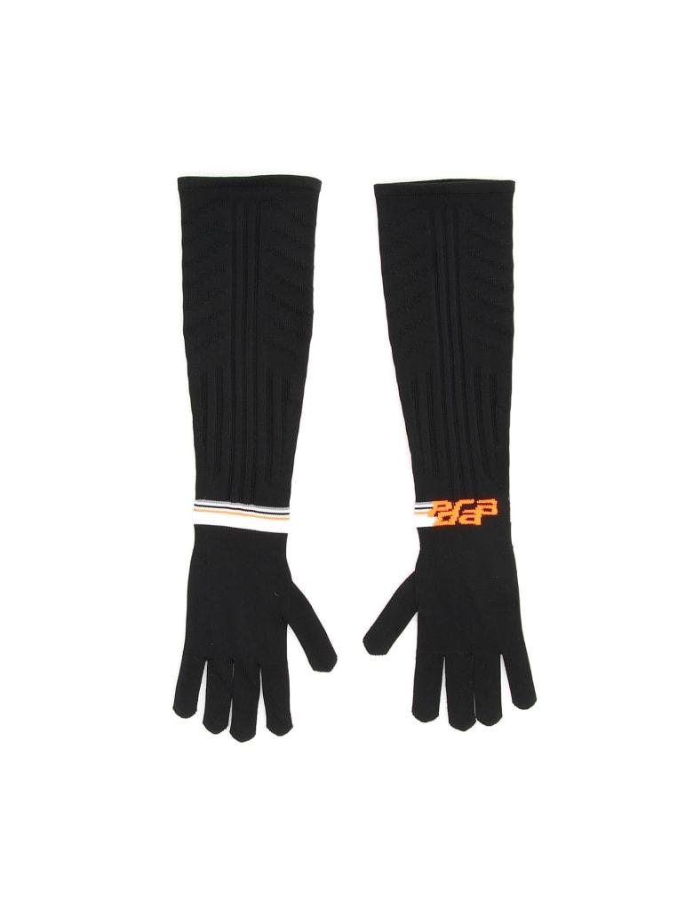 Prada Techno Nylon Long Gloves - NERO CORALLO (Black)