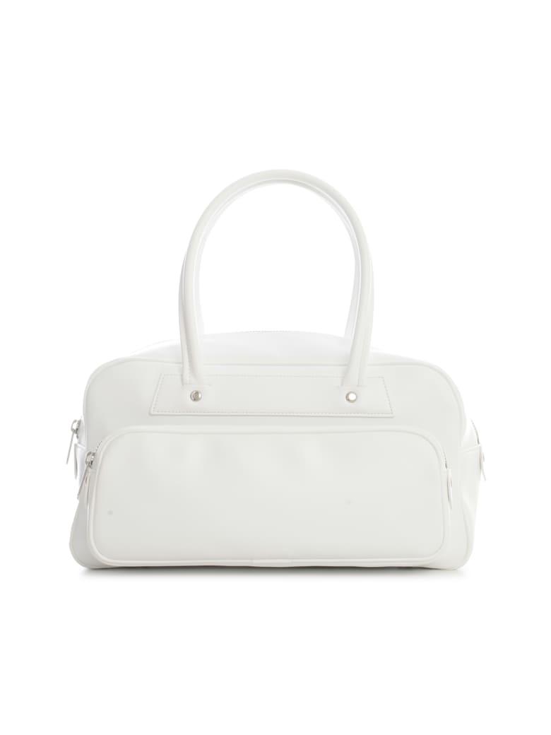 Comme des Garçons Comme des Garçons Synthetic Leather Small Tote Bag - White