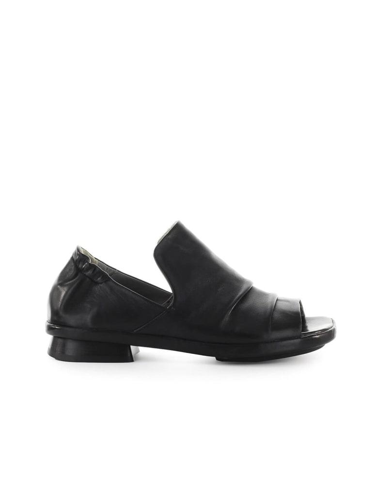 IXOS Silene Black Flat Sandal - Nero (Black)