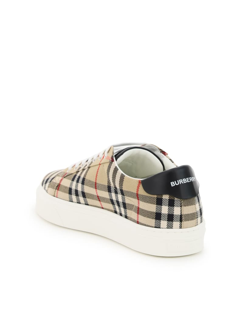 Burberry Rangleton Vintage Check Sneakers - Beige