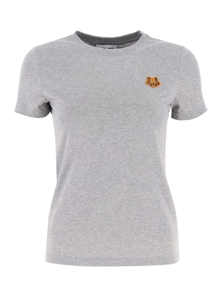 Kenzo Tiger Patch T-shirt - Grigio chiaro