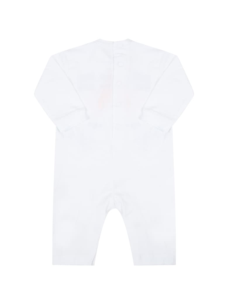 MSGM White Set For Babykids With Logo - Bianco
