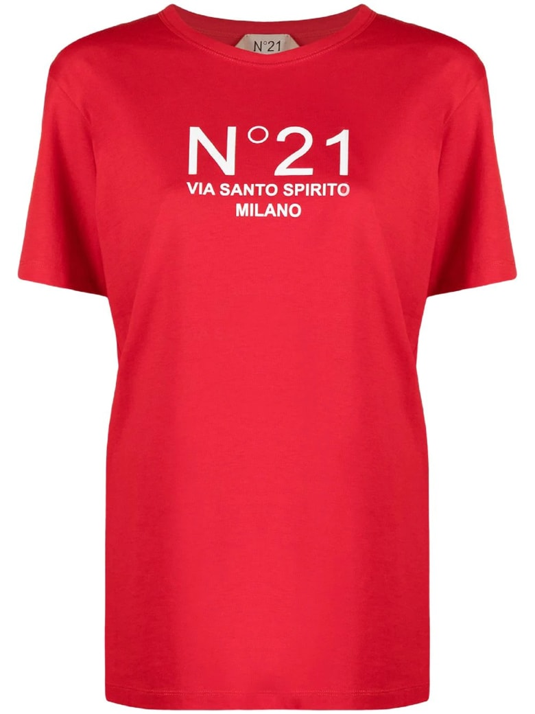 N.21 Red Cotton T-shirt - Rosso