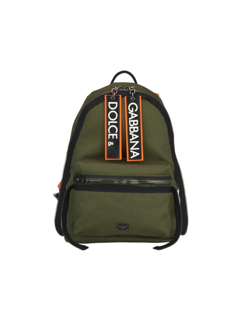 Dolce & Gabbana Vulcano Backpack - Green/black