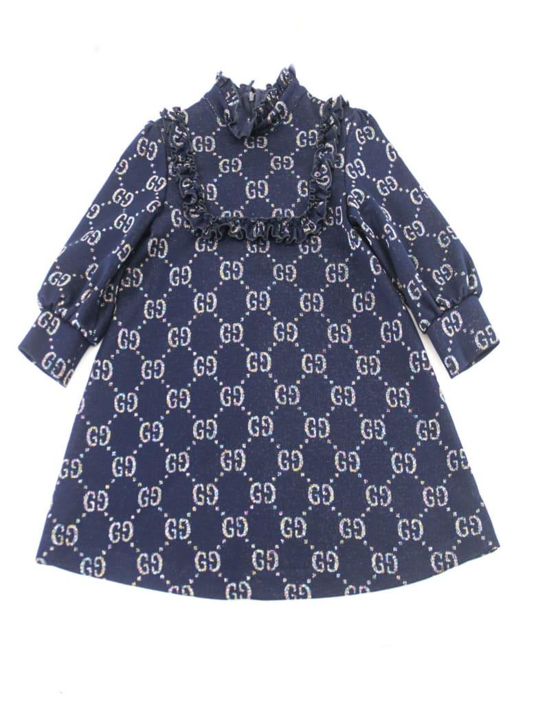 9f34ab4373 Gucci Gucci Children's Gg Lamé Dress - Blu - 11019079 | italist
