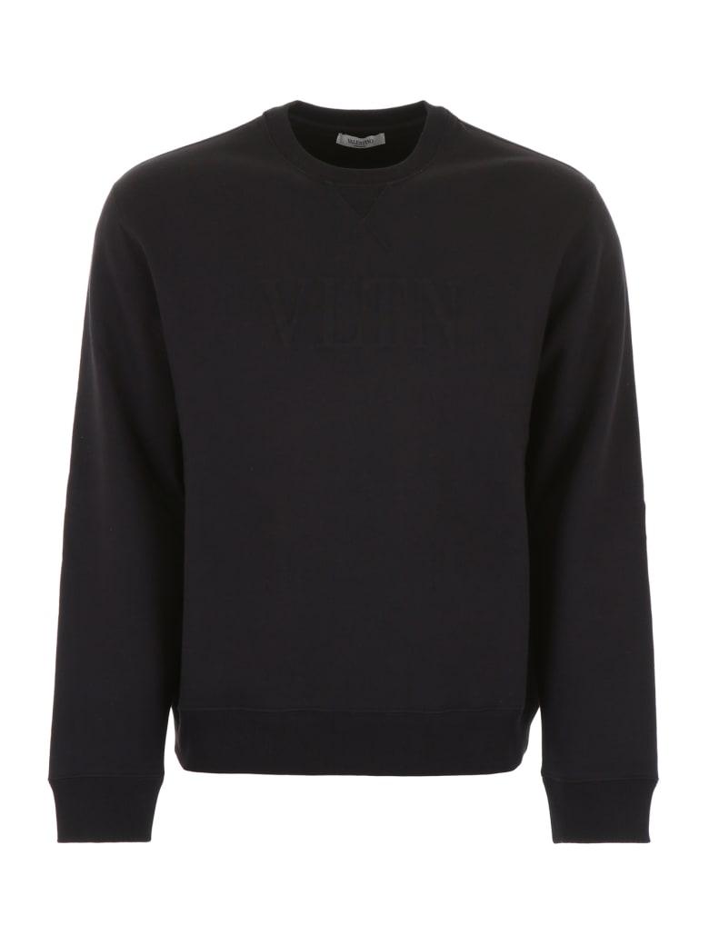 Valentino Embossed Logo Sweatshirt - NERO (Black)