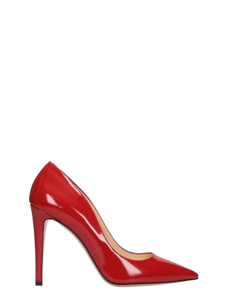 Fabio Rusconi Pumps In Red Patent Leather - red