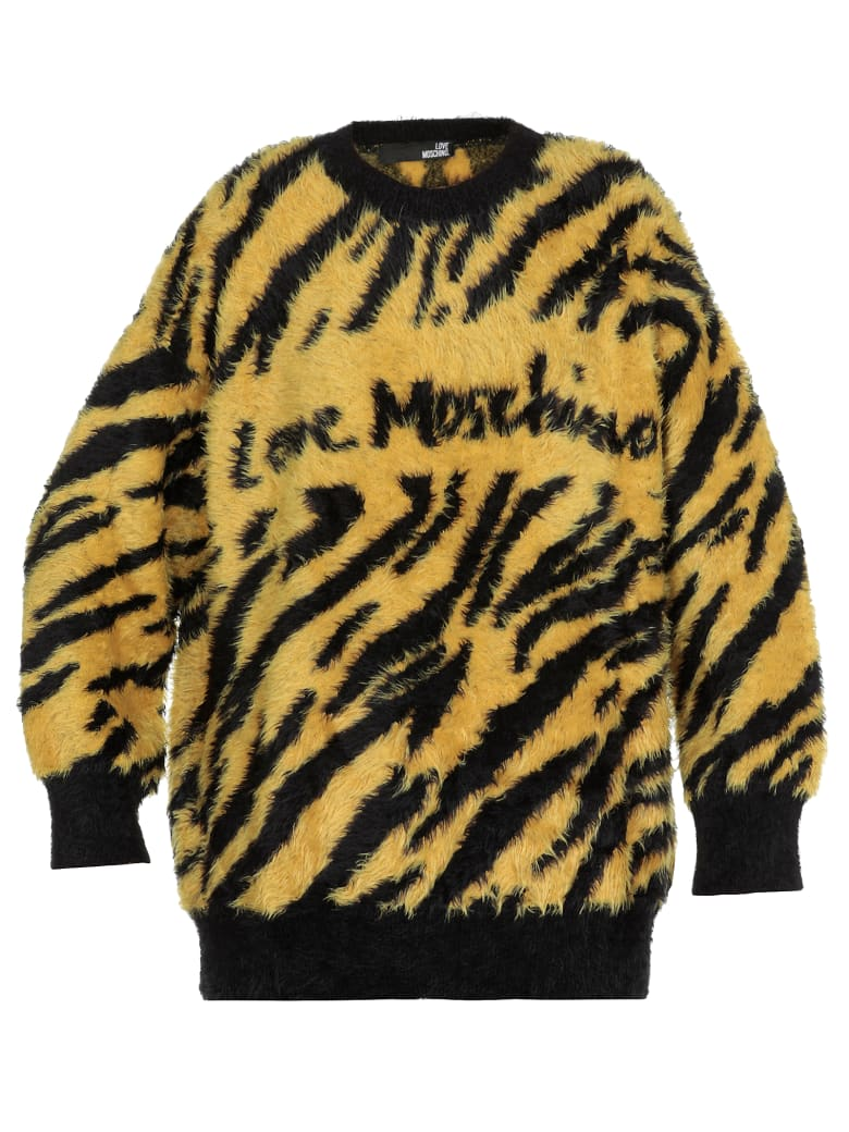 Love Moschino Animalier Sweater - ANIMALIER/YELL.