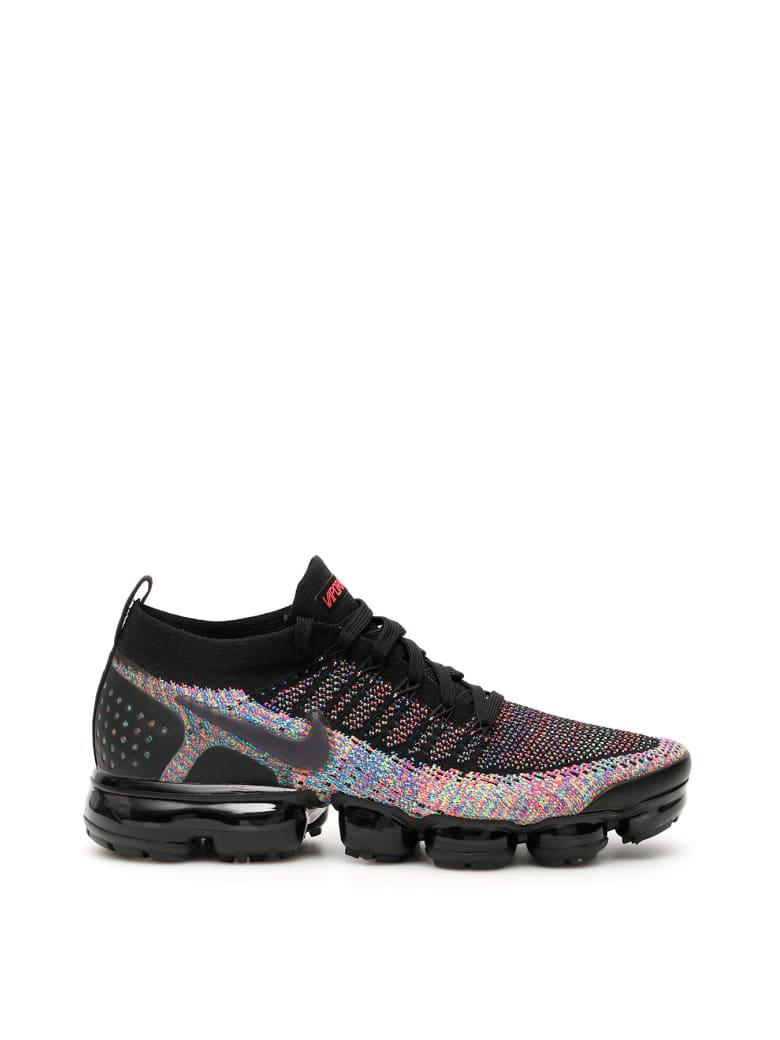Nike Air Vapormax Flyknit 2 Sneakers - BLACK RACER PINK RACER BLUE (Black)