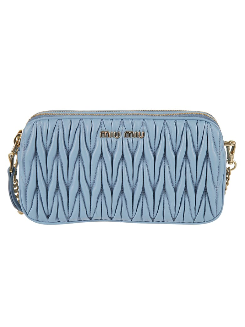 Miu Miu Mini Bandoliera Shoulder Bag - Astral