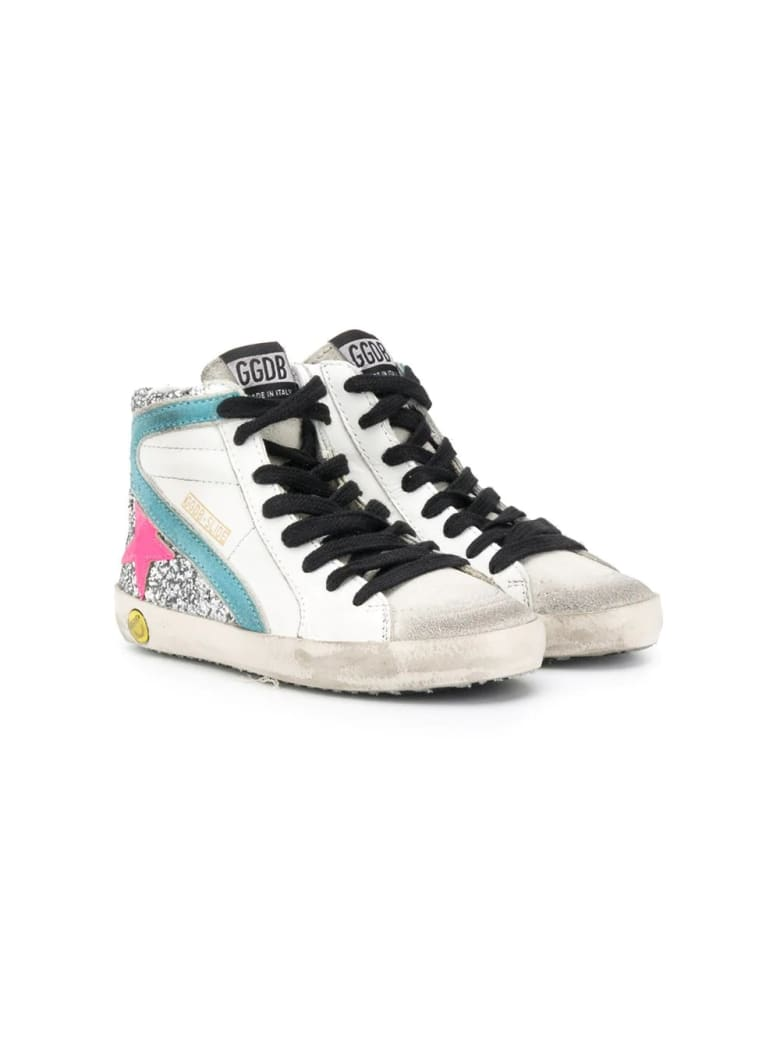 Golden Goose Slide Panelled High-top Sneakers - Glitter-fucsia