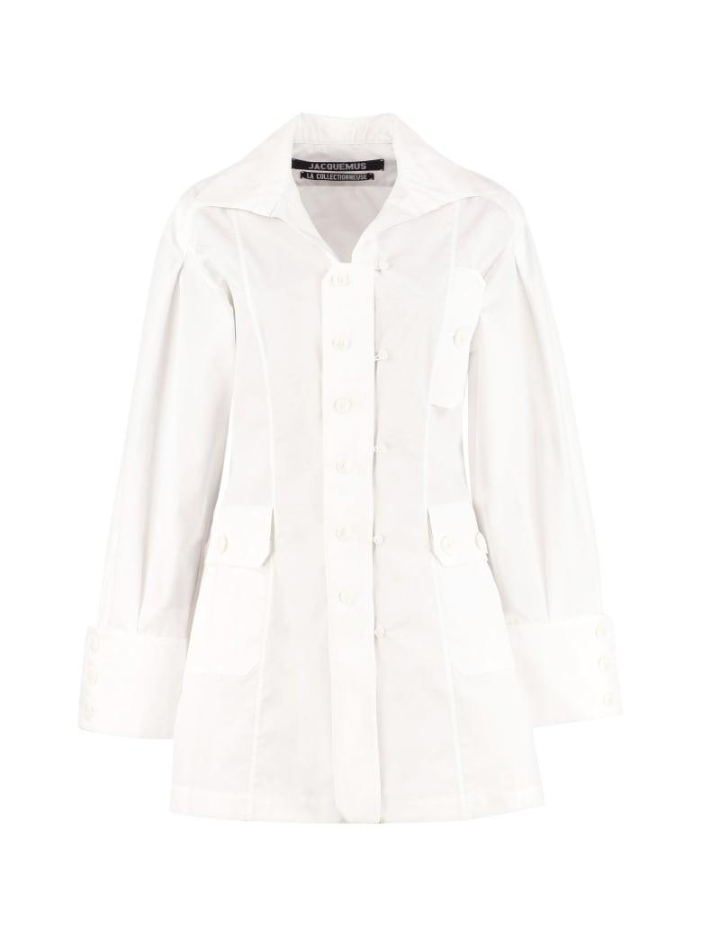 Jacquemus Roman Cotton Shirtdress - White