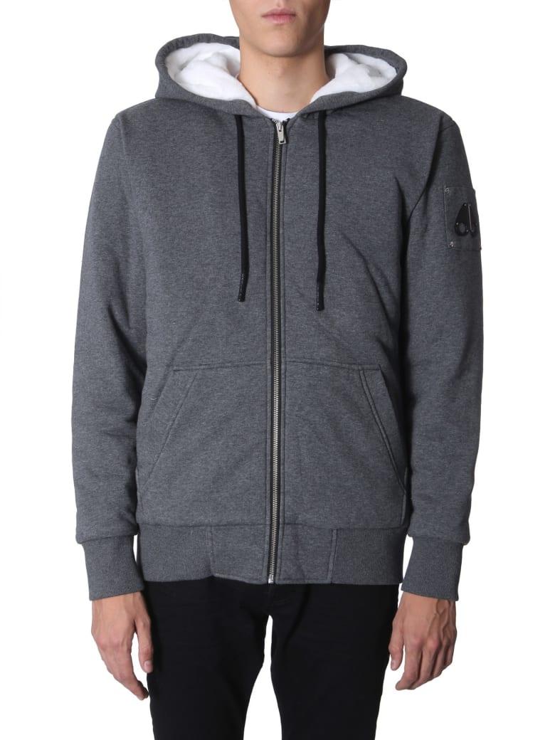 Moose Knuckles Hooded Jacket With Zip - GRIGIO