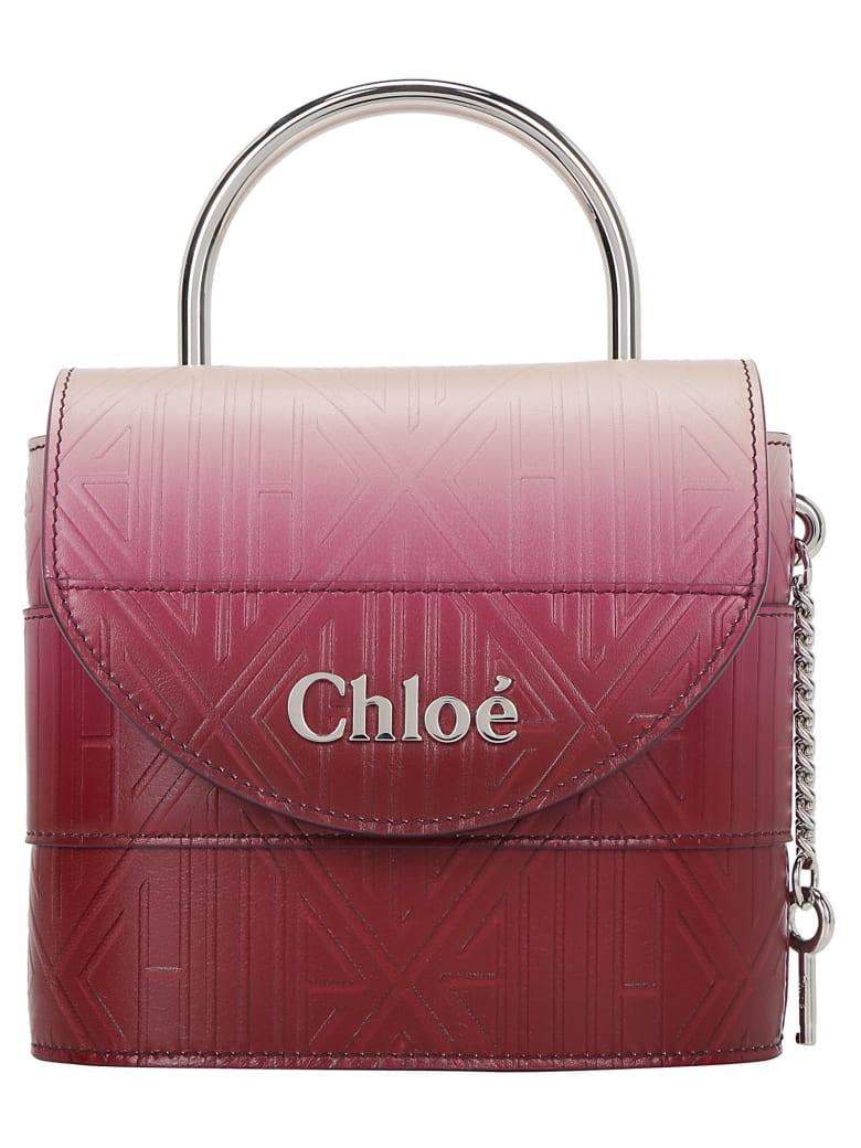 Chloé Abylock Small Padlock Bag - Brown purple