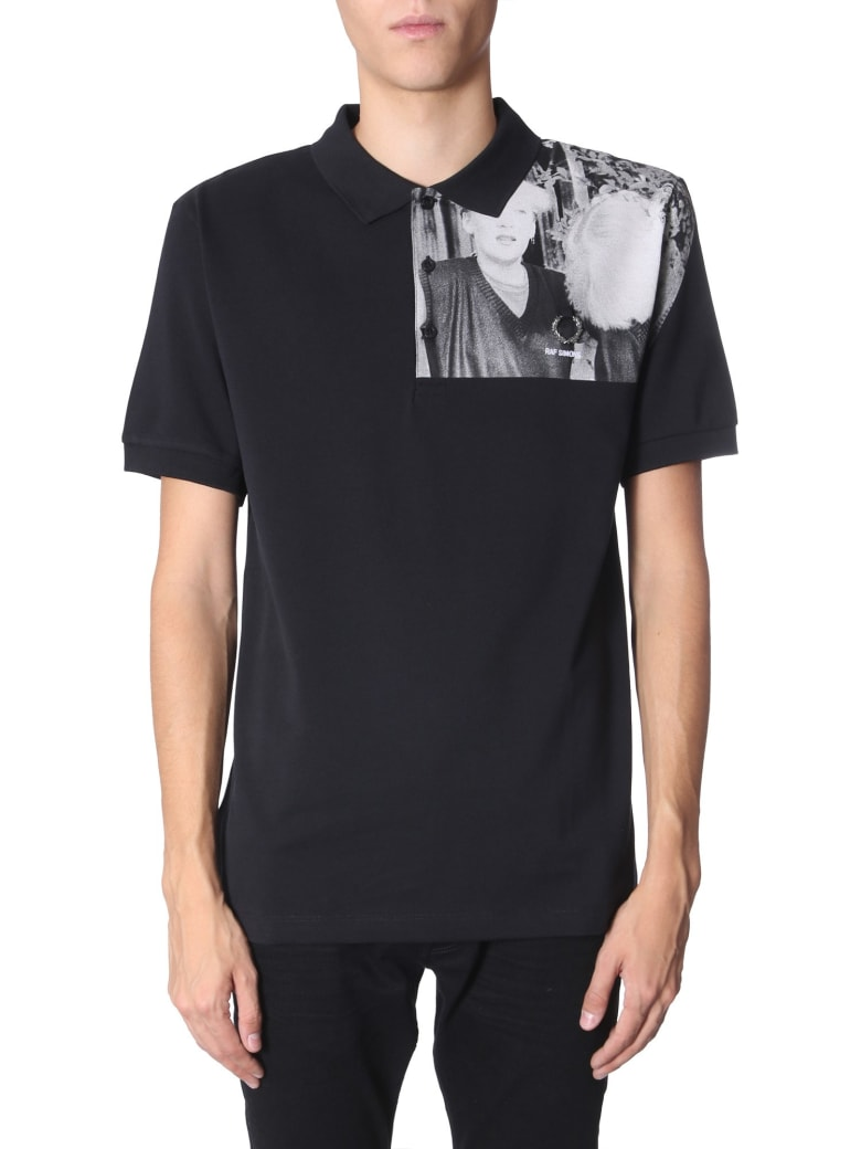 Fred Perry by Raf Simons Printed Polo T-shirt - NERO