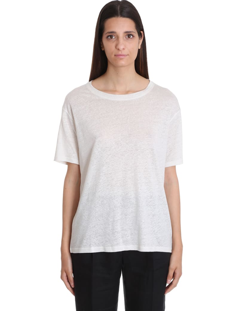 Acne Studios Ember T-shirt In Beige Cotton - beige