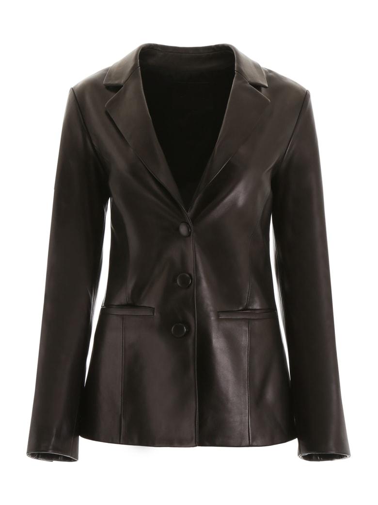 DROMe Leather Blazer - BLACK (Black)